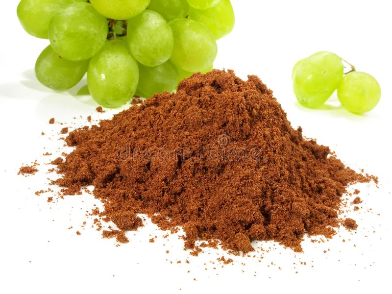 Opc-Trauben-Pulver - gesunde Nahrung stockbilder