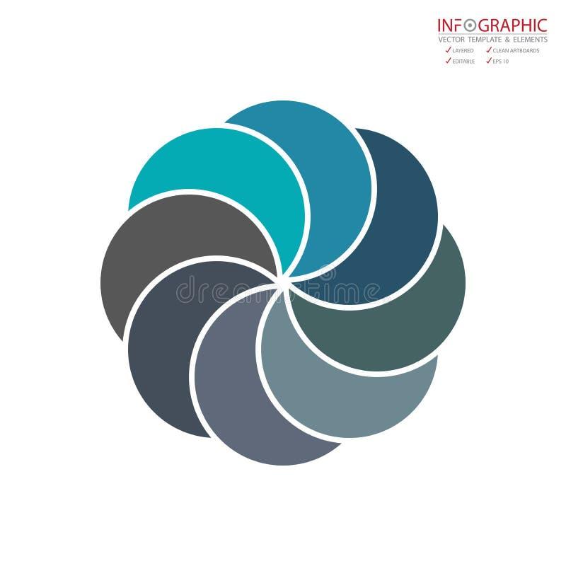 Opción abstracta del infographics 8 del elemento del vector Diseño para el busine libre illustration