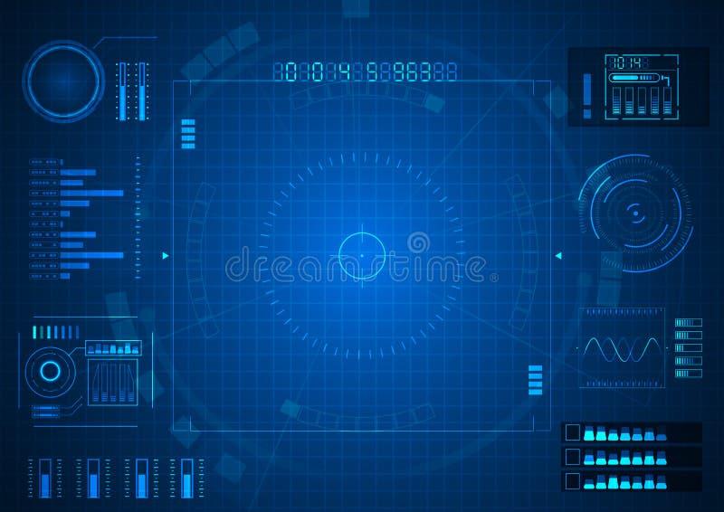 Opción azul de la tecnología del juego futurista stock de ilustración