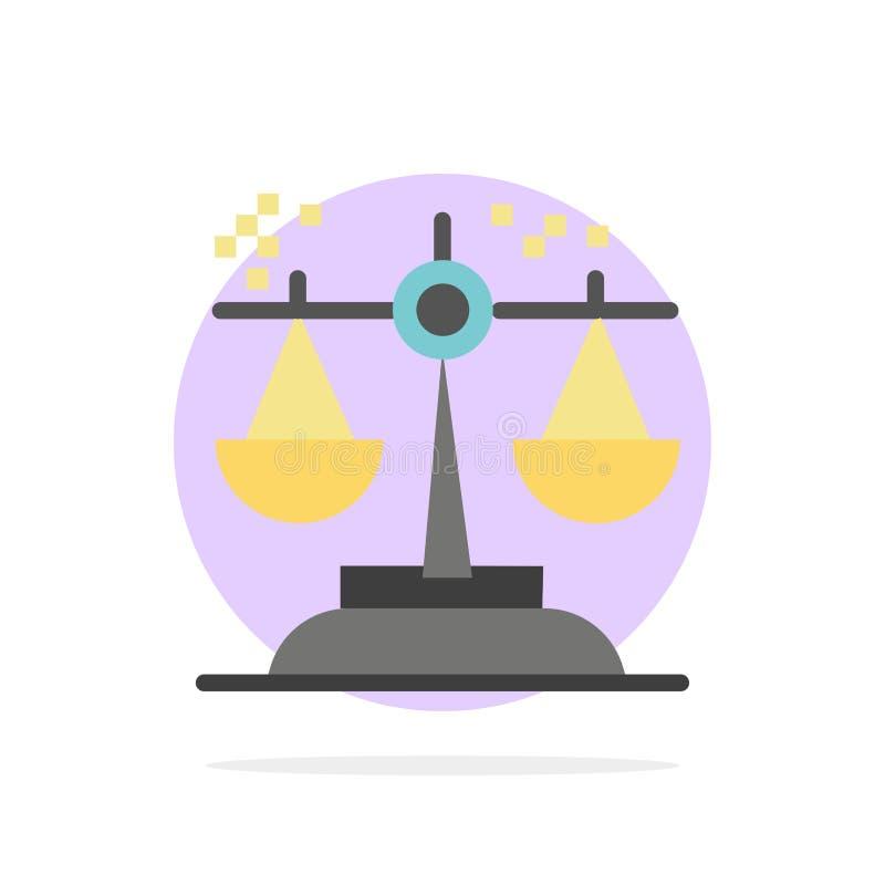 Opción, conclusión, corte, juicio, icono plano del color de fondo abstracto del círculo de la ley ilustración del vector