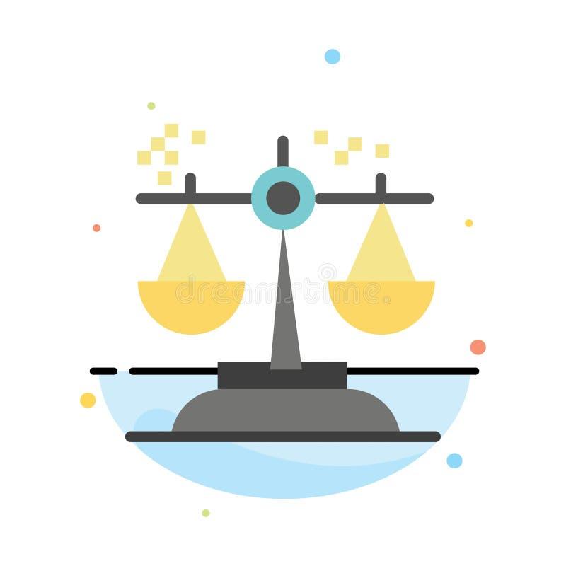 Opción, conclusión, corte, juicio, plantilla plana del icono del color del extracto de la ley stock de ilustración