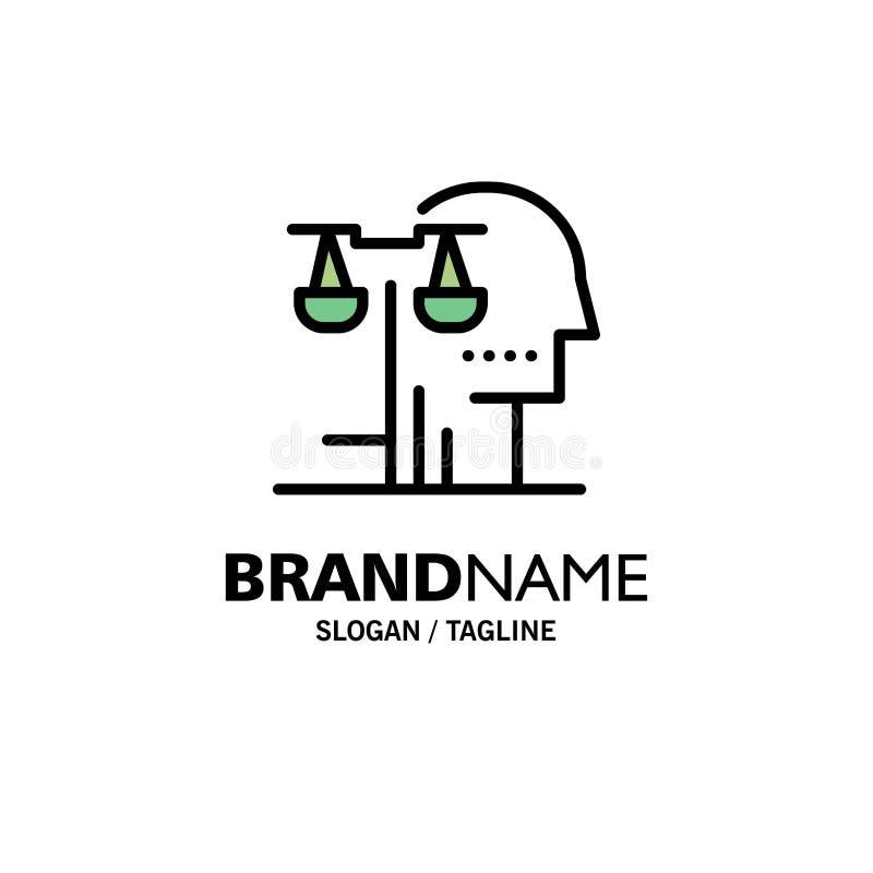 Opción, corte, ser humano, juicio, negocio Logo Template de la ley color plano ilustración del vector
