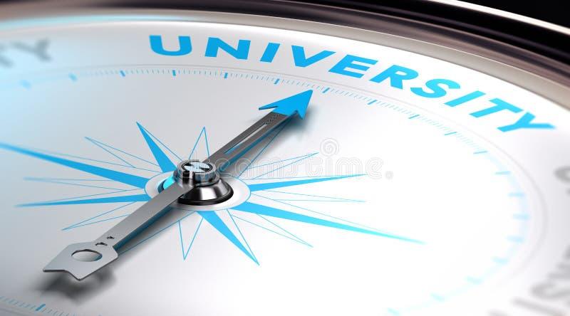 Opción de la universidad ilustración del vector