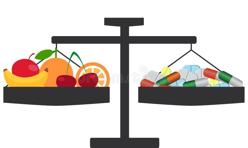 Opción de vitaminas libre illustration