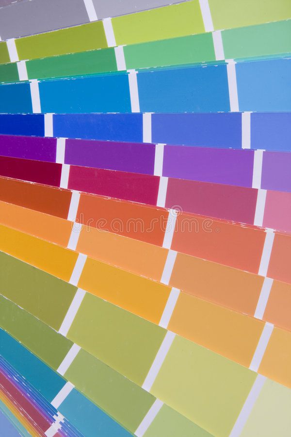 Opción del color de la gama de colores fotos de archivo
