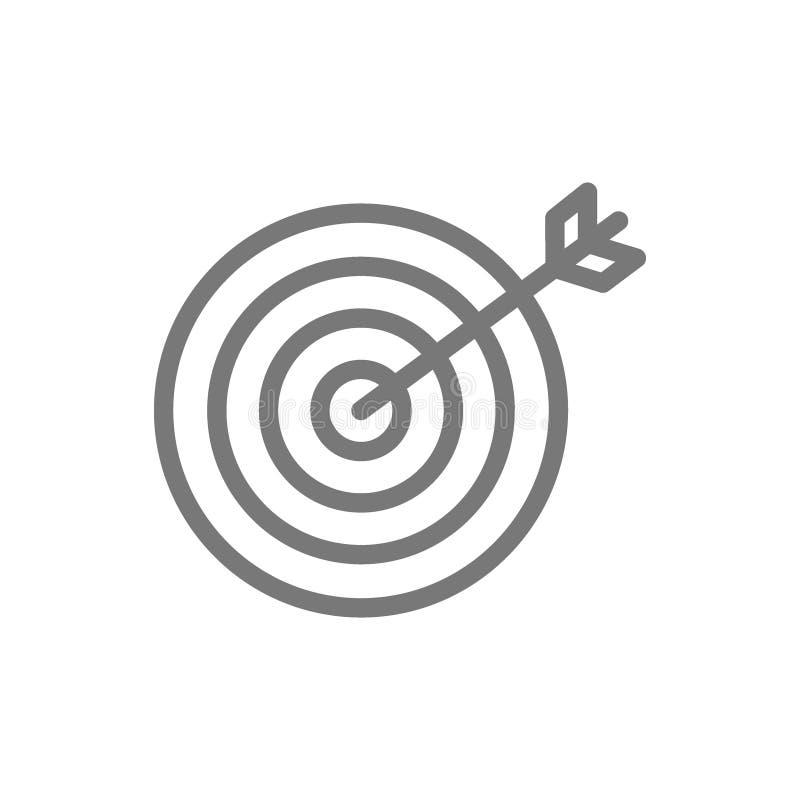 Opci?n, meta de negocio y l?nea de blanco icono ilustración del vector