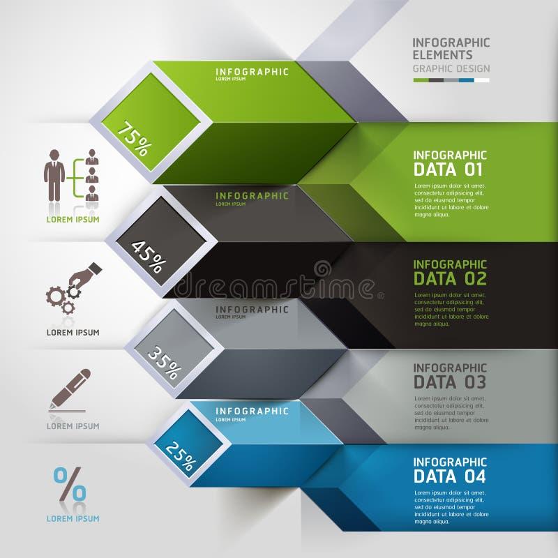 Opciones abstractas del infographics 3d. libre illustration
