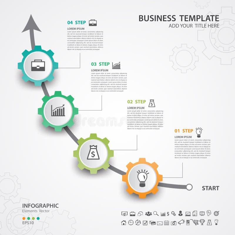 Opciones abstractas plantilla, ejemplo del vector, presentación, bandera del número del infographics del diseño del icono del web libre illustration