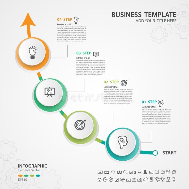 Opciones abstractas plantilla, ejemplo del vector, presentación, diagrama, anuncio, carta de proceso, aviador del número del info ilustración del vector