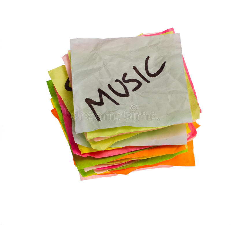 Opciones de la vida - tomando decisiones de gasto - música fotografía de archivo