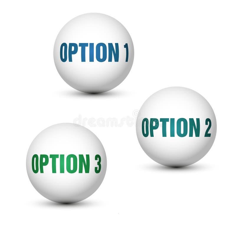 Opciones del globo ilustración del vector