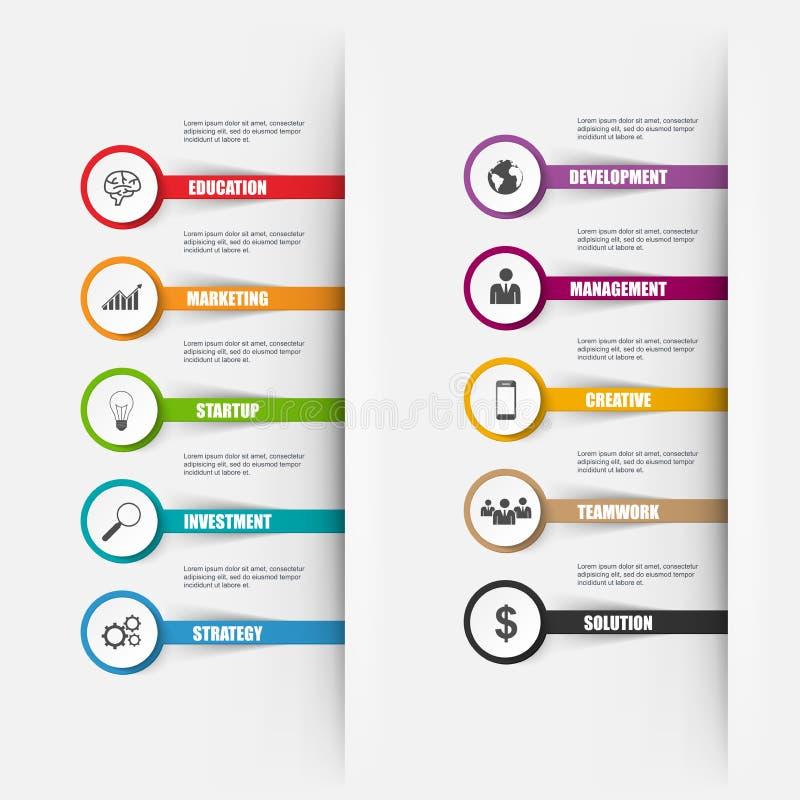 Opciones del número de Infographics puede ser utilizado para la disposición del flujo de trabajo ilustración del vector