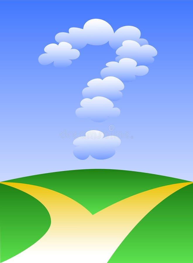 Opciones para el camino futuro/EPS stock de ilustración