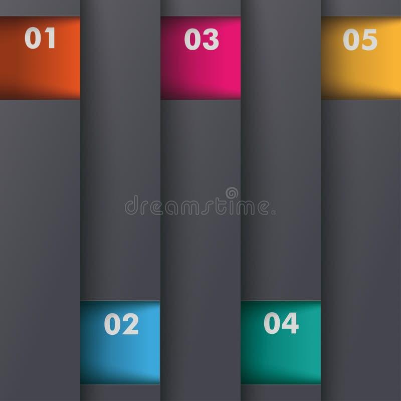Opciones PiAd coloreado profundidad del diseño 5 de la plantilla ilustración del vector