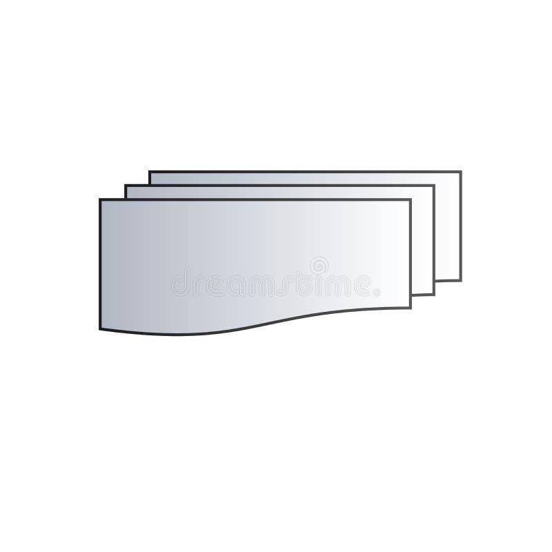 Opcja trzy warstwy sterty dla planu Prosta element ilustracja warstwy pojęcia symbolu projekt Może używać dla sieci wiszącej ozdo royalty ilustracja