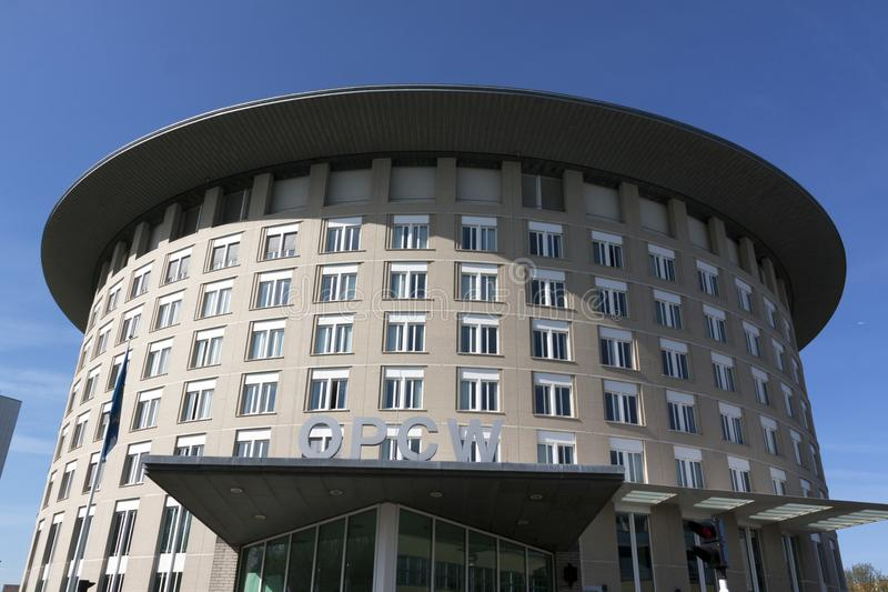 Opcw大厦在海牙,荷兰 免版税库存图片