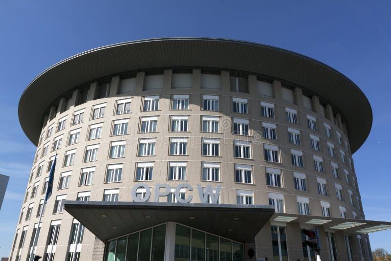 Opcw-Gebäude in Den Haag, die Niederlande lizenzfreies stockbild