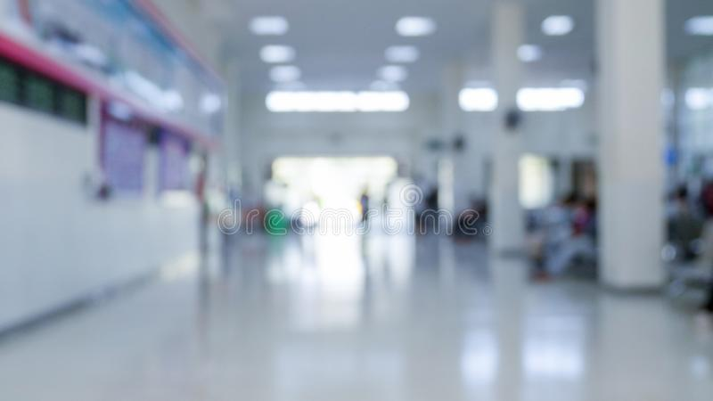 OPD van het ziekenhuis, bluured uit geduldige afdeling stock afbeeldingen