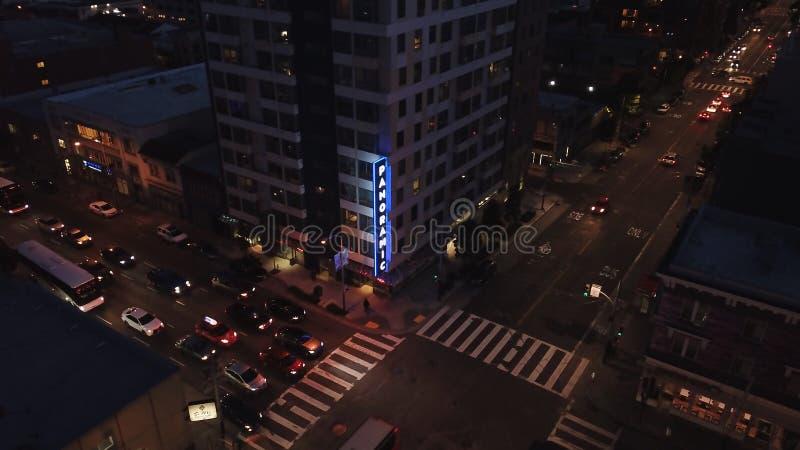Opdracht en 9de st San Francisco vlieg over kruising in de kap stock foto's