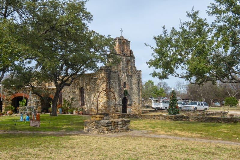 Opdracht San Francisco de la Espada, San Antonio, Texas, de V.S. royalty-vrije stock afbeelding