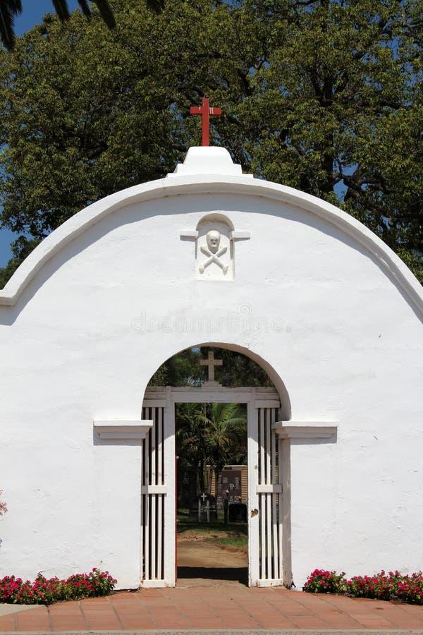 Opdracht San Luis Rey Cemetery royalty-vrije stock afbeelding