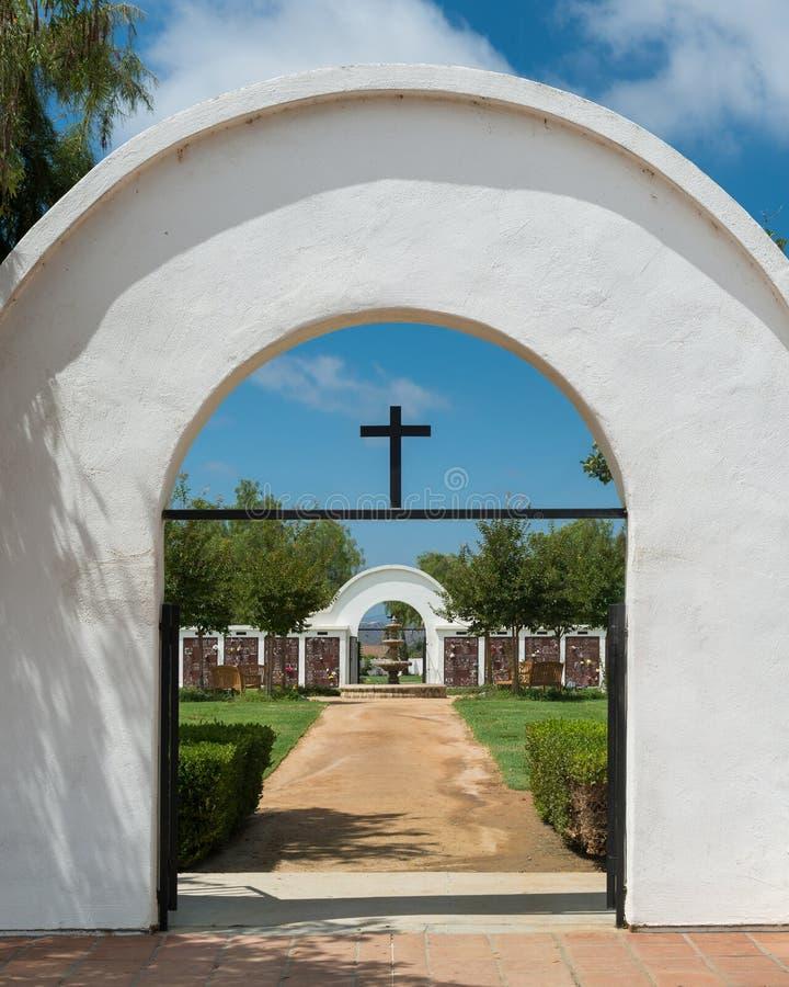 Opdracht San Luis Rey Cemetery stock fotografie
