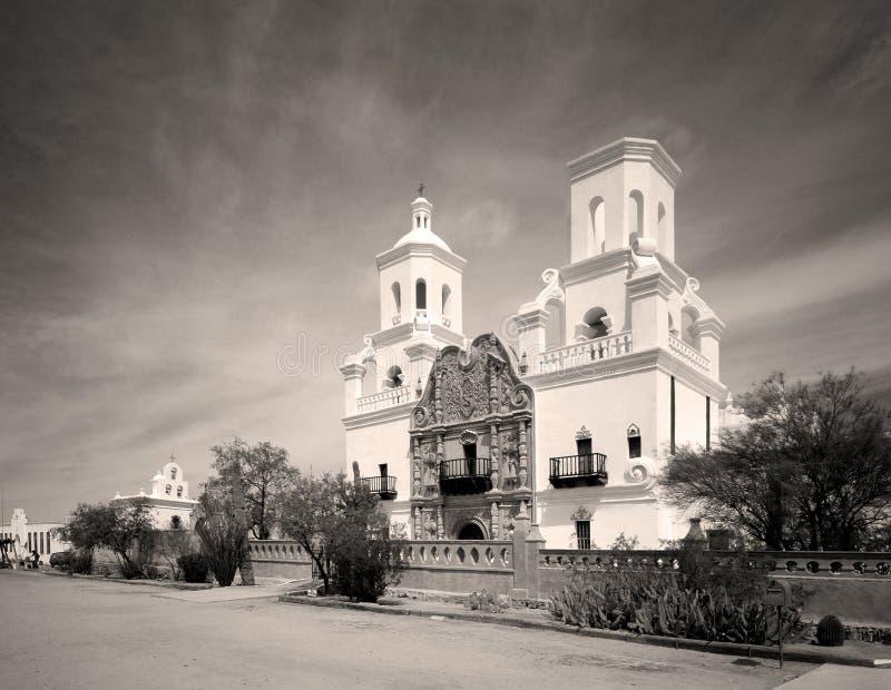 Opdracht San Xavier stock afbeeldingen