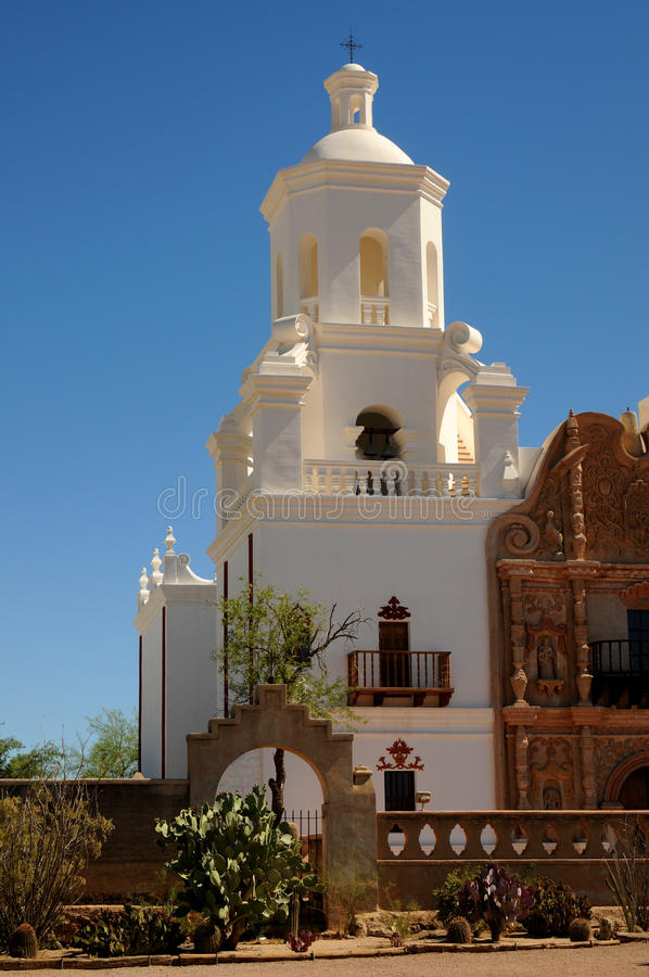 Opdracht San Xavier del Bac stock foto's