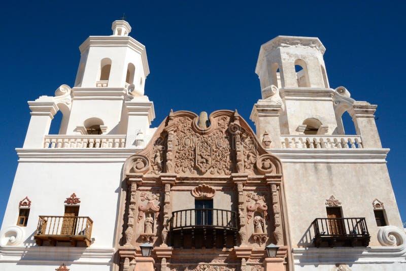 Opdracht San Xavier Del Bac stock afbeeldingen