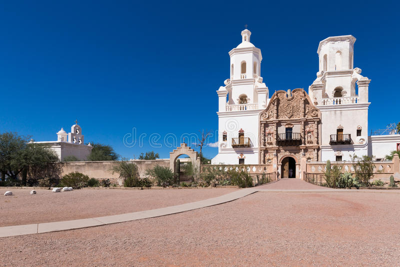 Opdracht San Xavier Del Bac royalty-vrije stock foto's