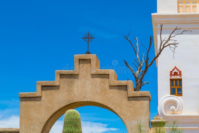 Opdracht San Xavier Del Bac stock fotografie