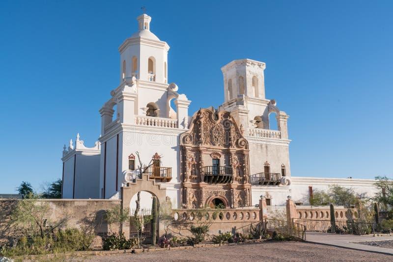 Opdracht San Xavier del Bac Tucson, Arizona stock fotografie