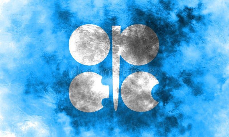 OPECgrungeflagga, organisation av oljorna som exporterar Countr vektor illustrationer