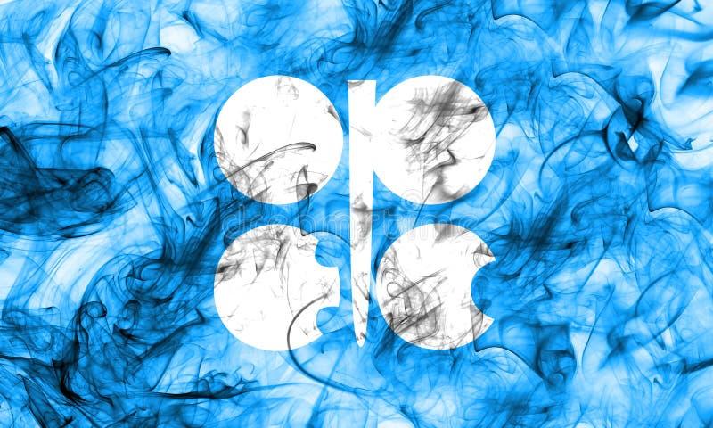 OPECrökflagga, organisation av oljorna som exporterar Countri stock illustrationer