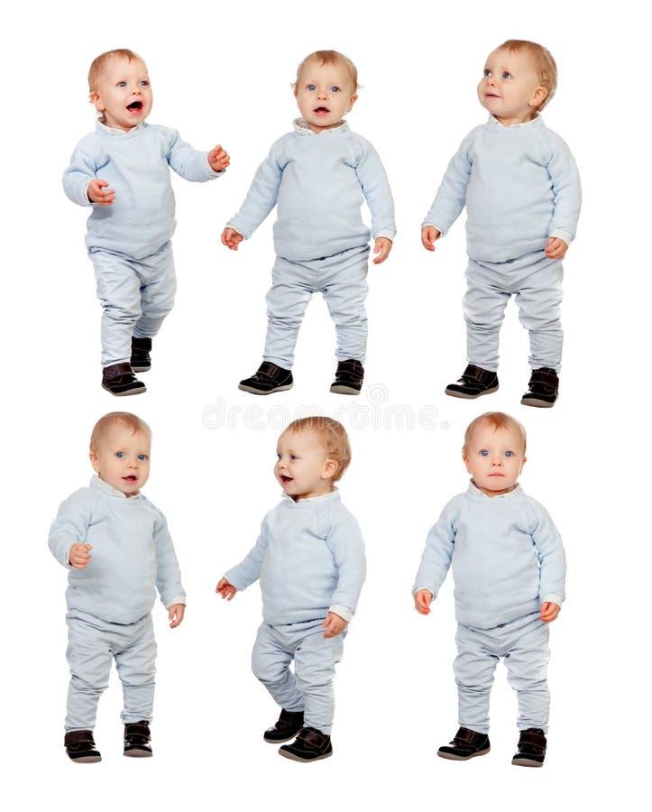 Opeenvolging van weinig geïsoleerde baby royalty-vrije stock foto's
