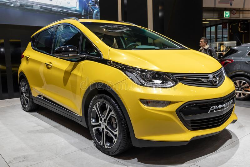 Opel Ampera electric car stock images