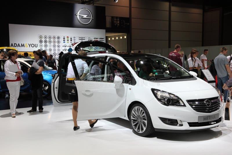 Opel Meriva skåpbil på AMIEN Leipzig Tyskland arkivbilder