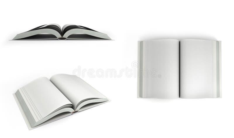 Open白皮书3d的汇集在白色背景回报 皇族释放例证