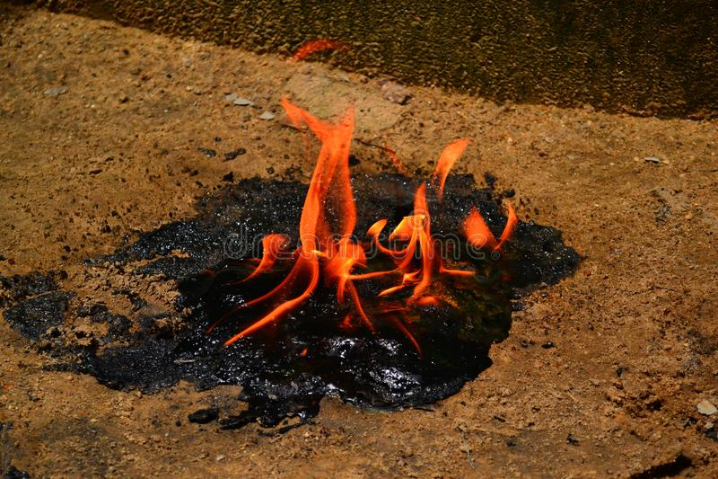 Open разбросал пламя стоковое фото
