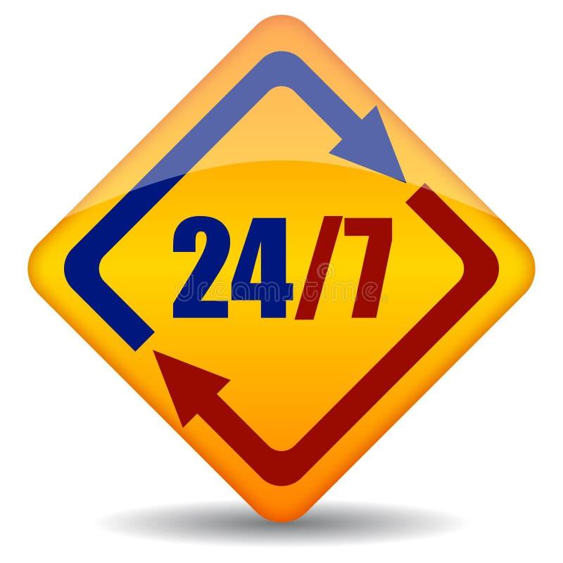 Download Open 24 stock vector. Image of background, online, customer - 24518944