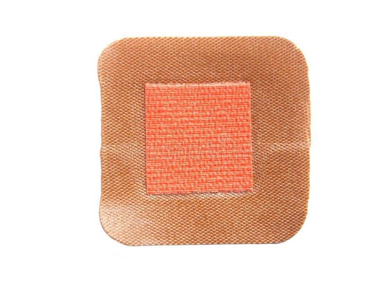 Open adhesive bandage. Reverse of open adhesive bandage on white background stock photography
