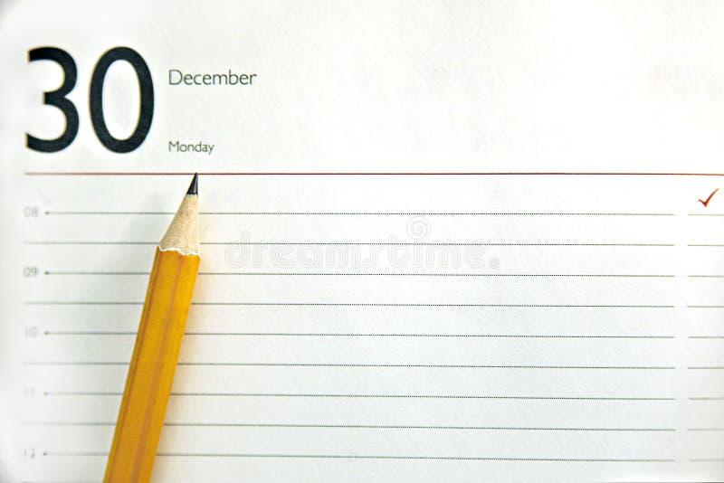 Open agenda, ontwerper of notitieboekje stock afbeelding
