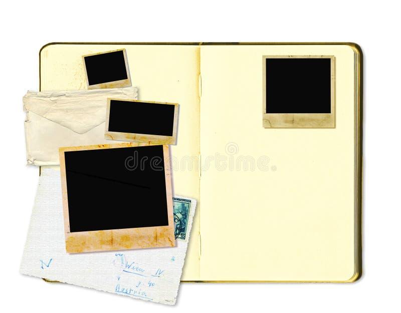 Open agendaboek of fotoalbum stock foto's