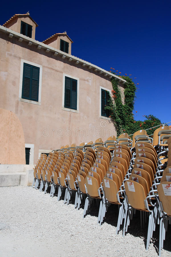 Open-air cinema royalty free stock photography