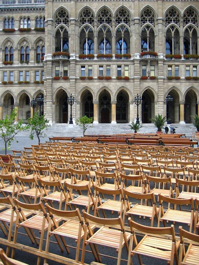 Open-air concert in Vienna, Austria stock photo