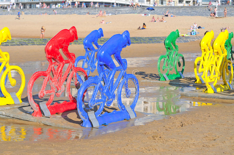 Open air exhibition, Ostend, Belgium royalty free stock images