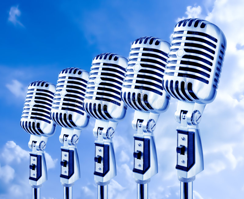 Open Air Mics royalty free stock photos