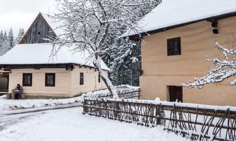 Open-air musem at Zuberec, Slovakia stock photography