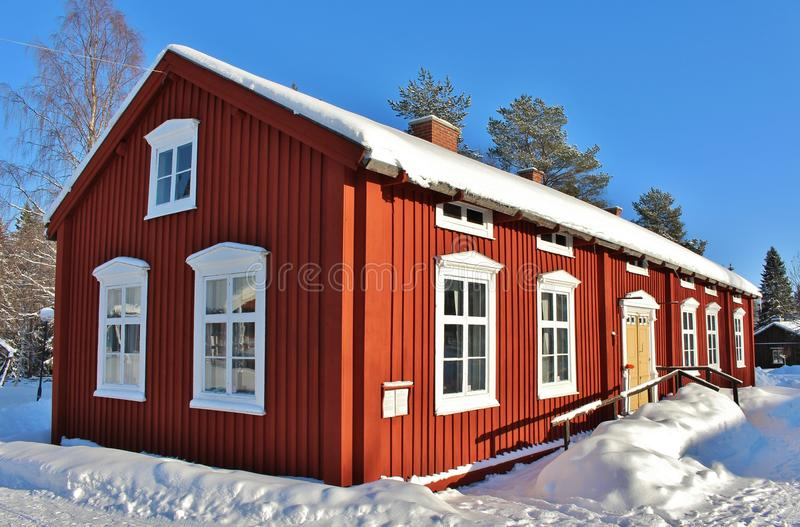 Open-air museum Hägnan in Gammelstad stock images
