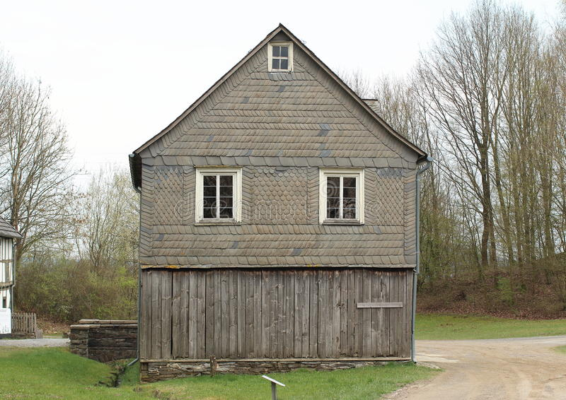 Open-air Museum Hessenpark, Germany. One of the building in Freilichtmuseum, Hessenpark. It's a giant indoor and outdoor museum where you can see what life was royalty free stock images